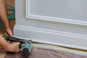 trim carpentry and baseboard installation